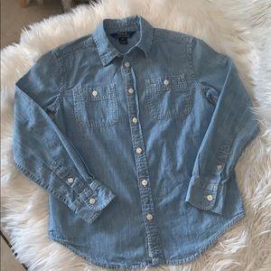 Polo Ralph Lauren denim boys shirt sz 10